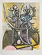 Pablo Picasso, Vase de Fleurs, 2-K, Lithograph