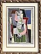 Pablo Picasso, Femme au Tablier Raye Vert, Lithograph