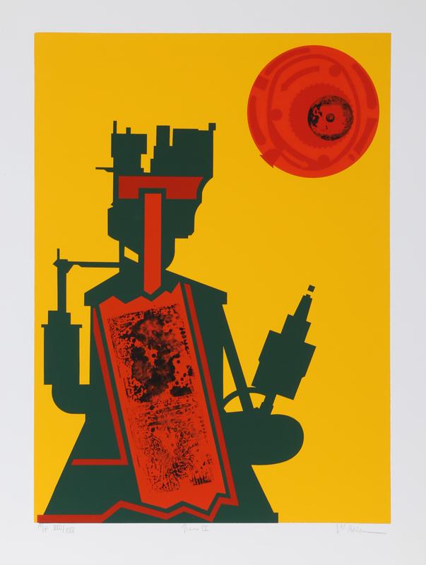 Lee Adler, Gears IX, Silkscreen