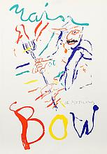 Willem de Kooning, Rainbow: Thelonius Monk, Devil at the Keyboard, Lithograph