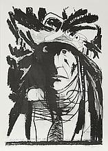 Leonard Baskin, Spies on his Enemies - Crow, Lithograph