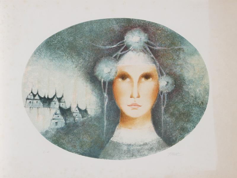 Pierre Petit, Visage de Femme, Lithograph