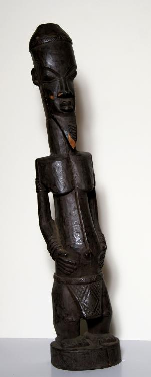 African Male Figure, Carved Wood Sculpture