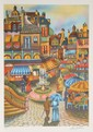 Ari Gradus, The Fountain Square, Lithograph, Ari Gradus, Click for value