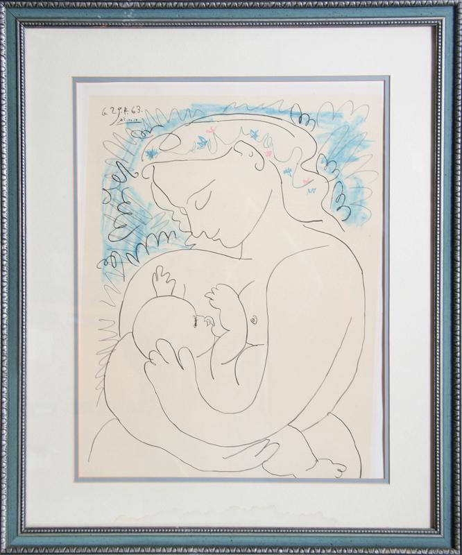 Pablo Picasso, Maternite, Lithograph