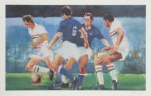 Robert Peak, Soccer from the Visions of Gold Olympics Portfolio, Lithograph