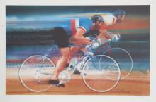 Robert Peak, Bicycling from the Visions of Gold Olympic Portfolio, Lithograph