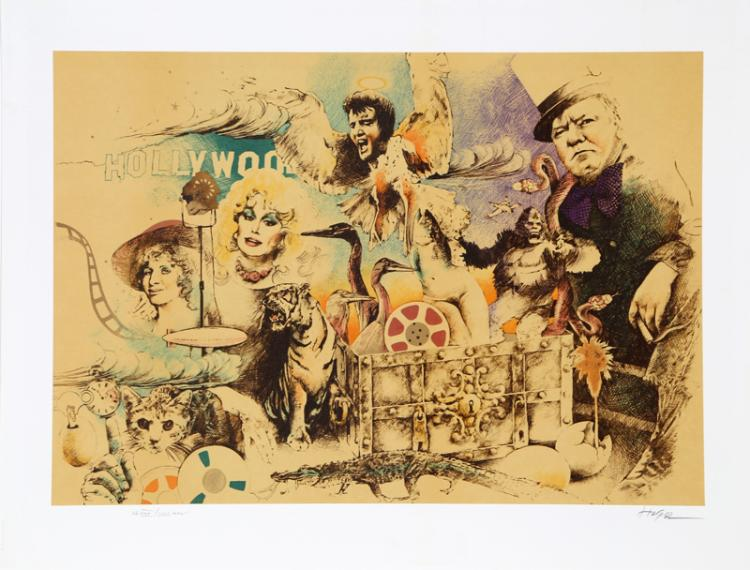 Ari Harpaz, Hollywood I, Lithograph