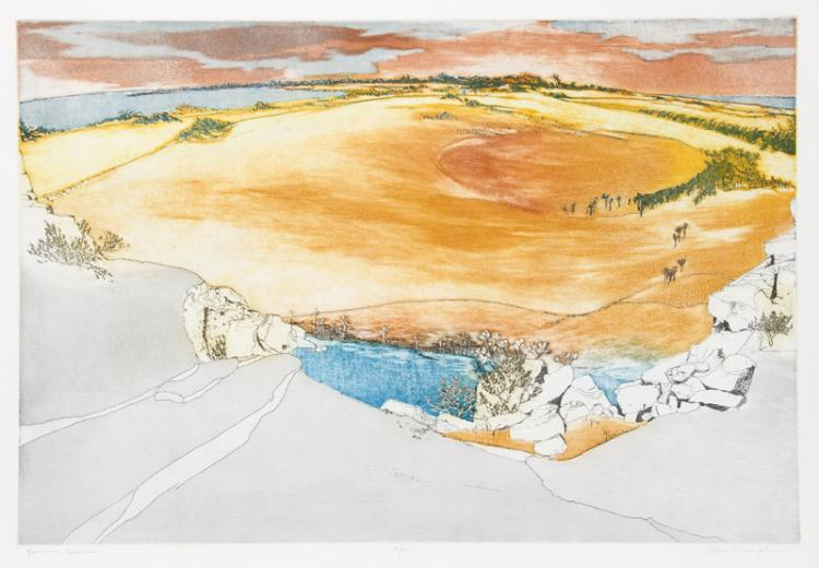 Olga Poloukhine, Burning Sands, Aquatint Etching