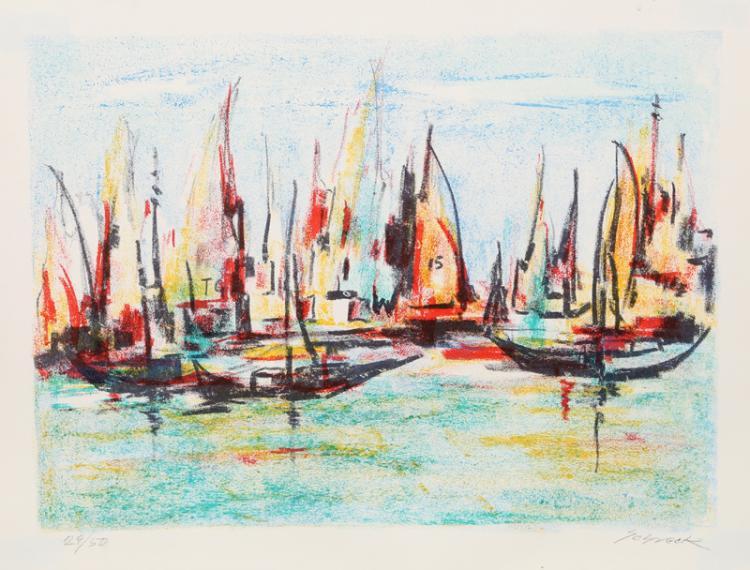 Michael Schreck, Sailboat Race, Lithograph