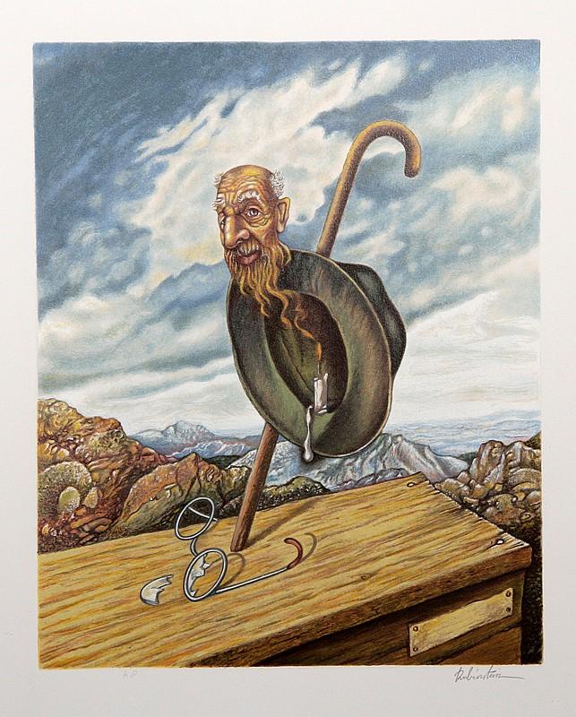 Israel Rubinstein, Old Age, Serigraph