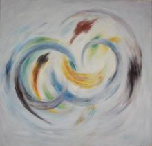 Michael Schreck, In Motion II, Acrylic Painting