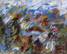 Tadeusz Kobylarski, Friends from the Forest, Acrylic Painting