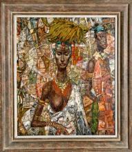 George Russin, Watusi Woman, Oil Painting