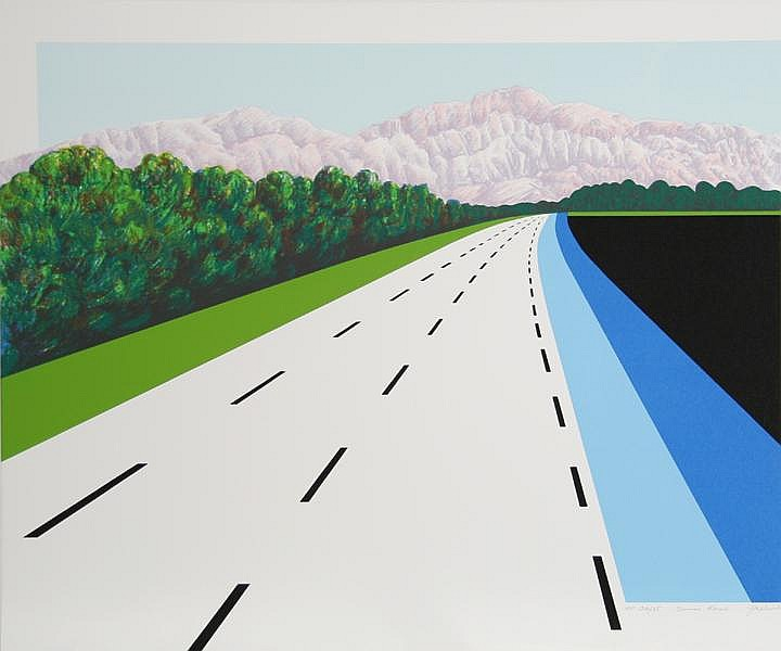 Joan Melnick, Swiss Road, Serigraph