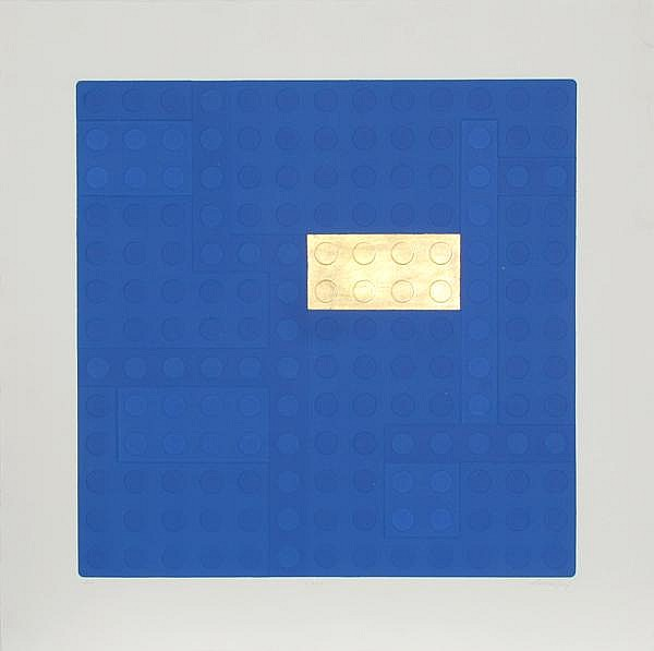 Matteo Negri, Lego (Blue), Aquatint Etching