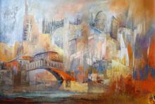 Elcy Herrera Pinzon, Venecia, Acrylic and Oil Painting, signed l.r.