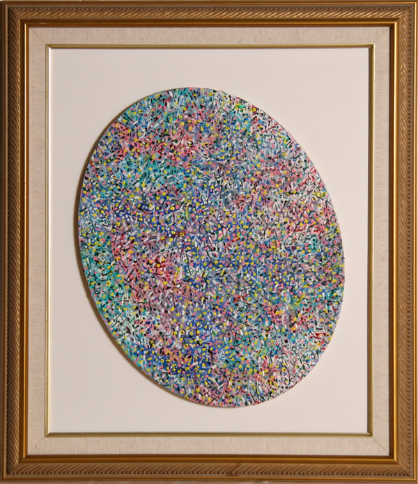 Biagio Civale, Oval Search, Mixed Media on Canvas
