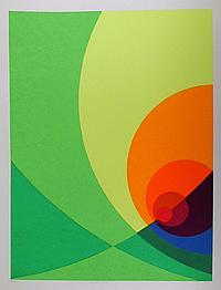Herbert Aach, Split Infinity #5BS, Lithograph