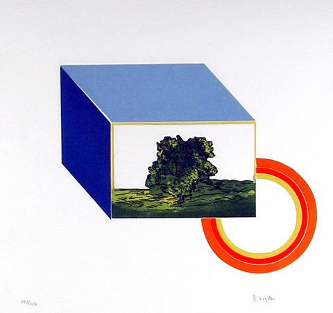 Francesco Copello, Rainbow Tree, Intaglio Etching with Aquatint