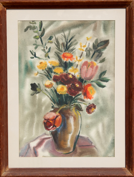 Eve Nethercott, Bouquet of Flowers III, Watercolor