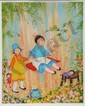 Mildred Barrett, Swing Set, Lithograph, Mildred Barrett, Click for value