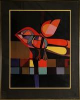 Josep Maria Garcia Llort, Parajo con Cola Amarillo, Lithograph