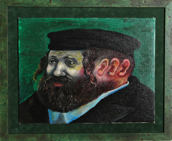 Ari Roussimoff, Three Generations, Oil Painting