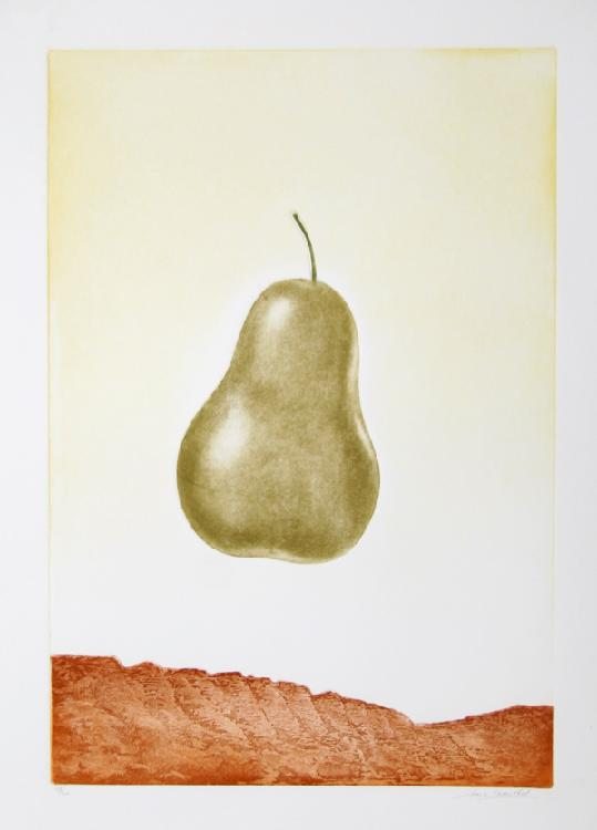 Hank Laventhol, Pear, Aquatint Etching