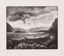 Michele Zalopany, Lake, Mezzotint