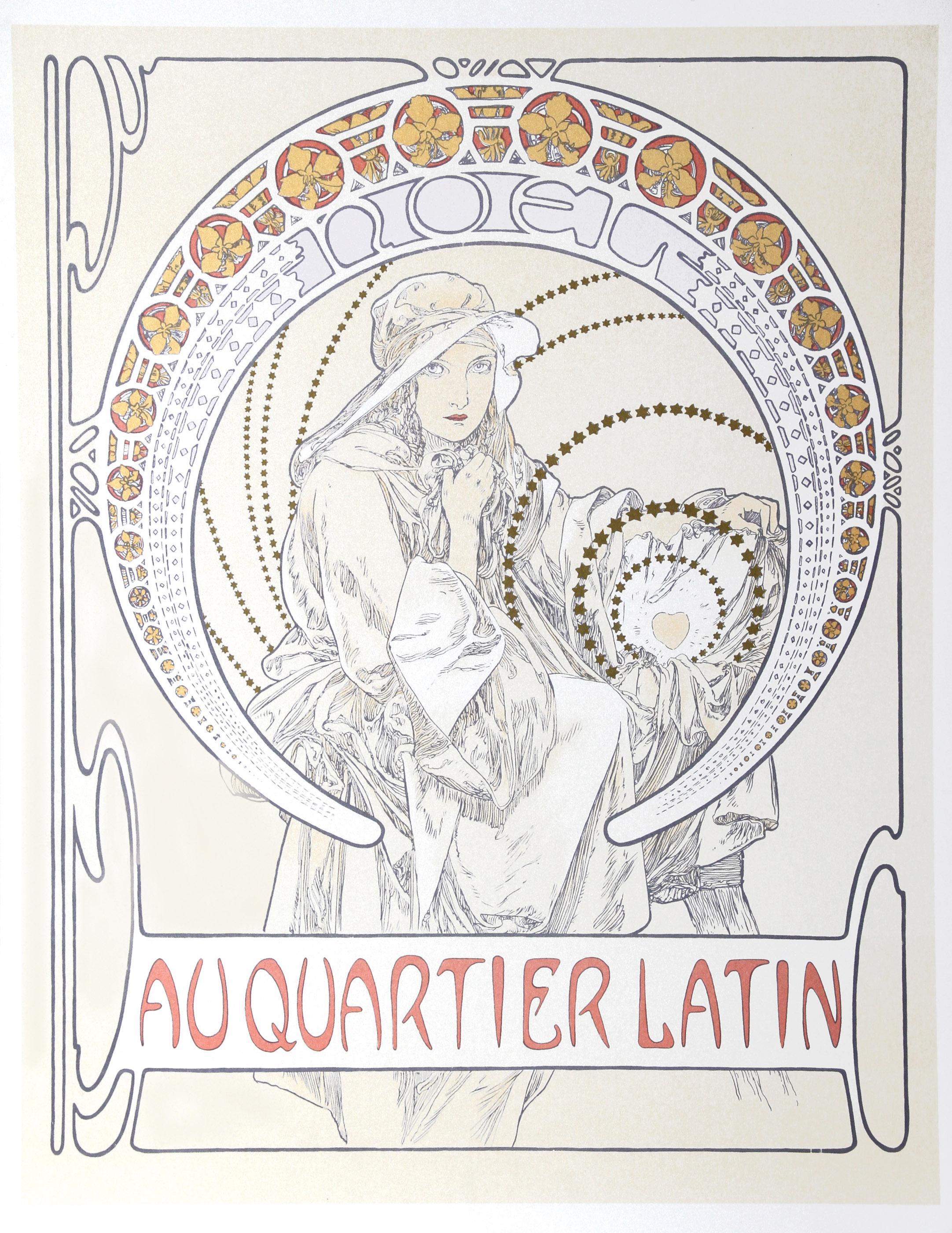 Alphonse Mucha, Au Quartier Latin, Lithograph Poster