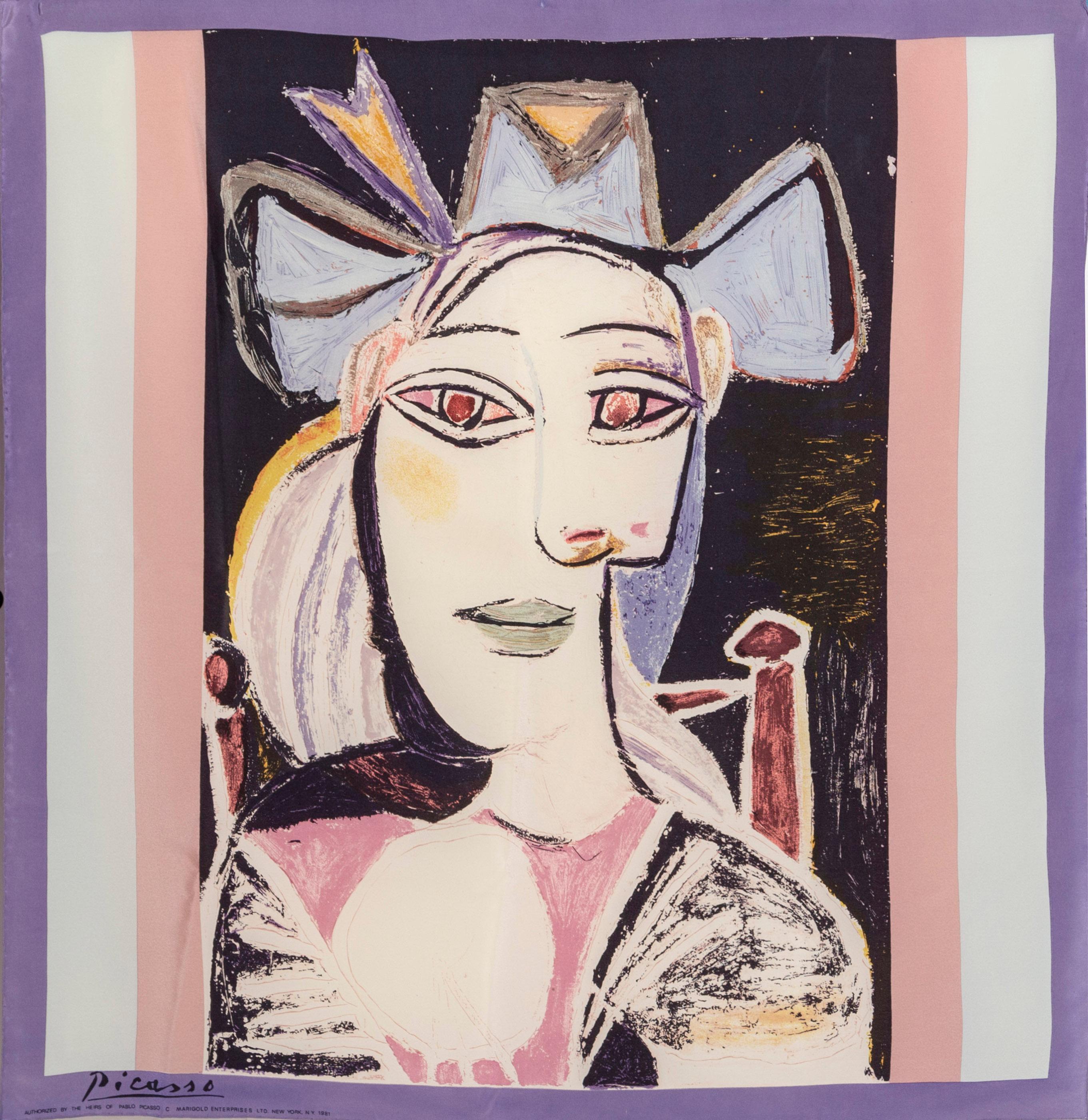 Pablo Picasso, Buste de Femme, Print on Scarf