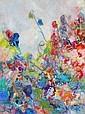Isabel Gamerov, The Flower Garden, Oil Painting