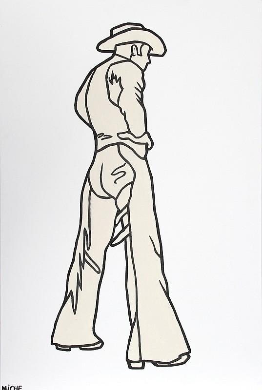 Miche Watkins, Cowboy, Acrylic Painting