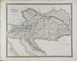 John Dower, Map of Austrian Empire, Engraving