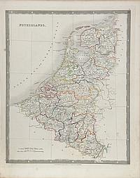 John Dower, Map of the Netherlands, Engraving