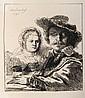 Amand Durand, Rembrandt et sa Femme (B19), Heliogravure
