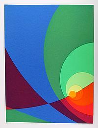 Herbert Aach, Split Infinity #B2S, Serigraph