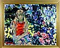 Dimitrie Berea, Little Girl on the Red Chair in House of Fodor, Oil Painting