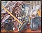 Konstantin Bokov, Room with the Broom, Oil Painting, Konstantin Bokov, Click for value