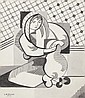 Laurent Marcel Salinas, Cubist Portrait, Ink Drawing