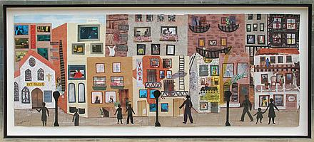 Allen Stringfellow, On This Street I, Collage on Board