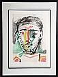 Pablo Picasso, Portrait d'Homme, Lithograph
