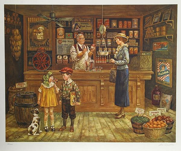 Lee Dubin, The Grocery Store, Offset Lithograph