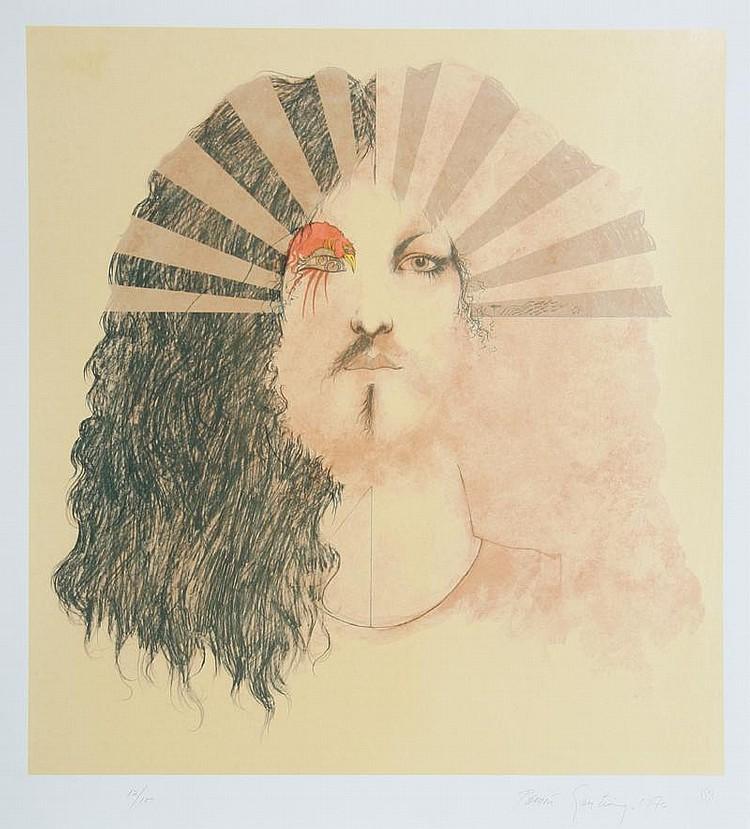 Ramon Santiago, King of the Sun, Lithograph