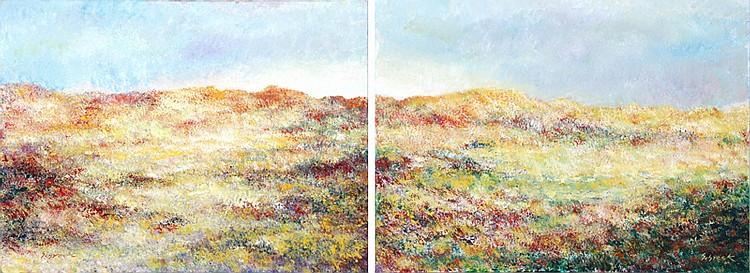 Michael Schreck, Sundown Diptych, Painting