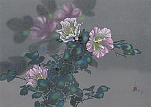 David Lee, Purple Flowers (21), Lithograph