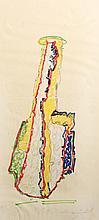 John Chamberlain, Yellow Coconut, Marker Drawing