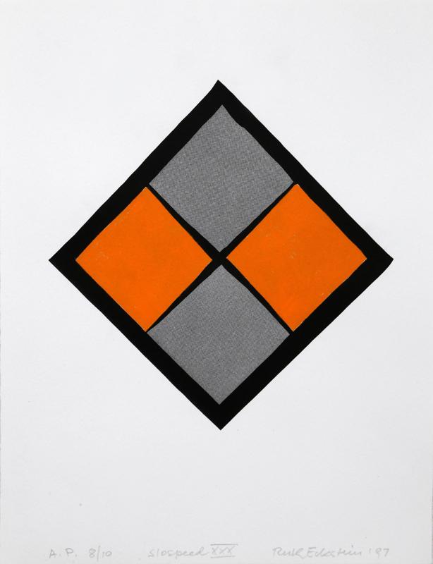Ruth Eckstein, Slospeed XXX, Lithograph