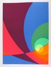 Herbert Aach, Split Infinity #B15, Serigraph